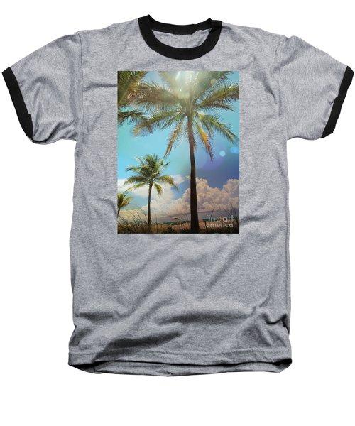 Miami Palm Trees,  Baseball T-Shirt by France Laliberte