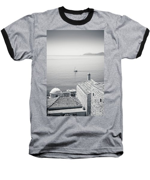 Monemvasia / Greece Baseball T-Shirt by Stavros Argyropoulos