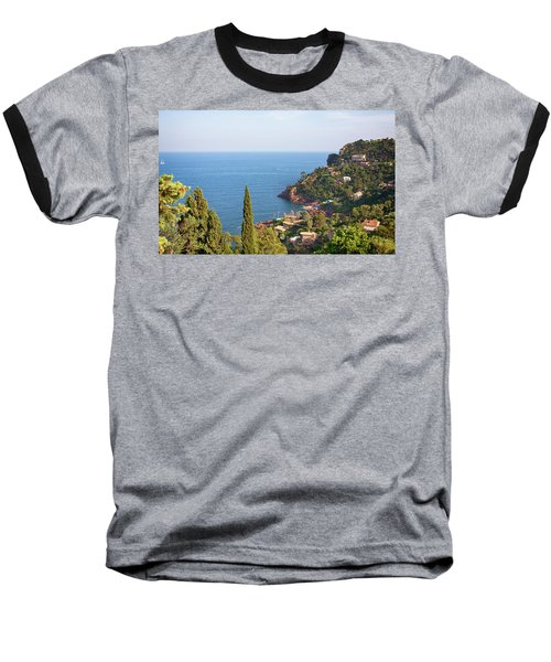 French Mediterranean Coastline Baseball T-Shirt