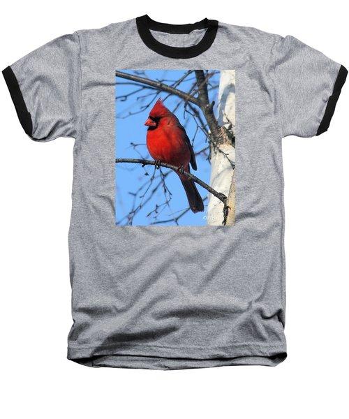 Baseball T-Shirt featuring the photograph Northern Cardinal by Ricky L Jones