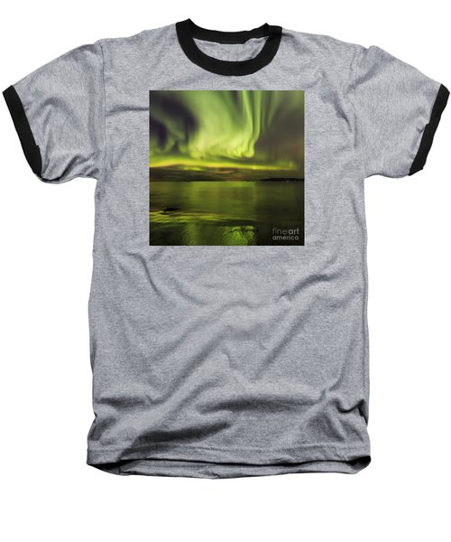 Northern Lights Reykjavik Baseball T-Shirt