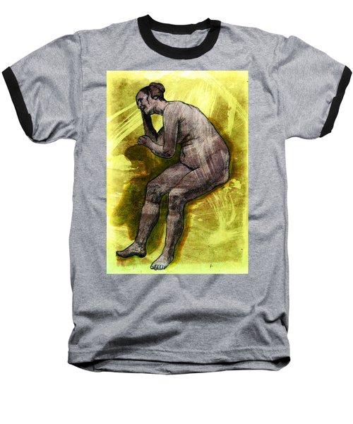 Nude Woman Baseball T-Shirt by Svelby Art