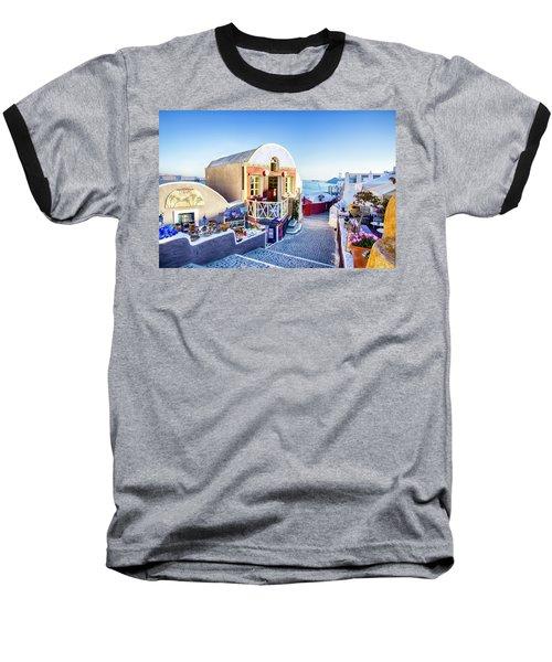 Oia, Santorini - Greece Baseball T-Shirt