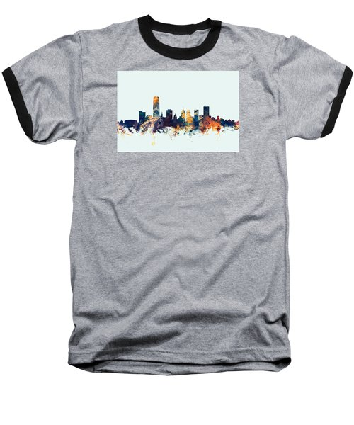 Oklahoma City Skyline Baseball T-Shirt