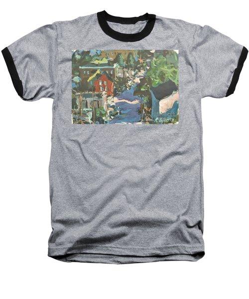 Baseball T-Shirt featuring the painting Original Contemporary Urban Painting Featuring Richmond Virginia by Robert Joyner