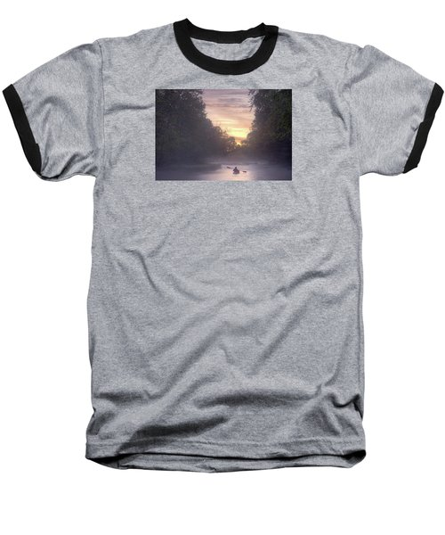 Paddling In Mist Baseball T-Shirt