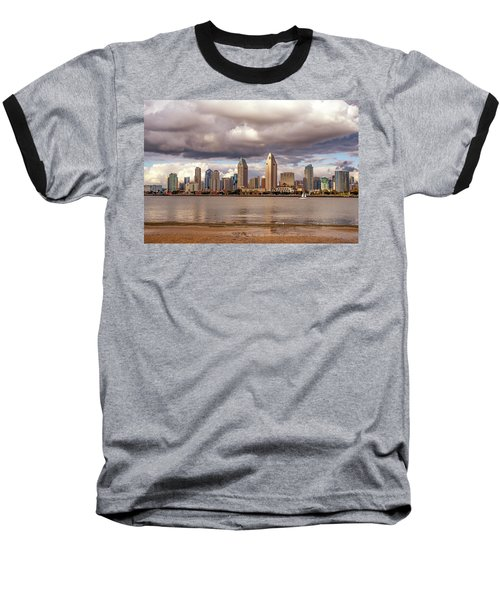 Passing By Baseball T-Shirt by Joseph S Giacalone