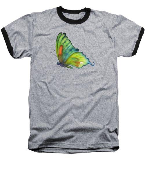 3 Perched Orange Spot Butterfly Baseball T-Shirt by Amy Kirkpatrick