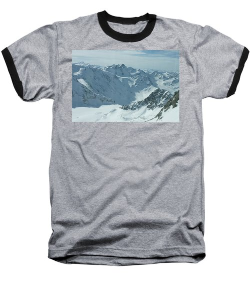 Pitztal Glacier Baseball T-Shirt by Christian Zesewitz