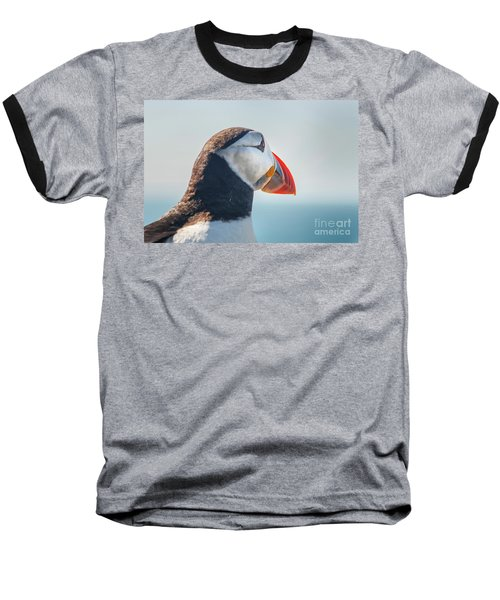 Baseball T-Shirt featuring the photograph Puffin In Close Up by Patricia Hofmeester