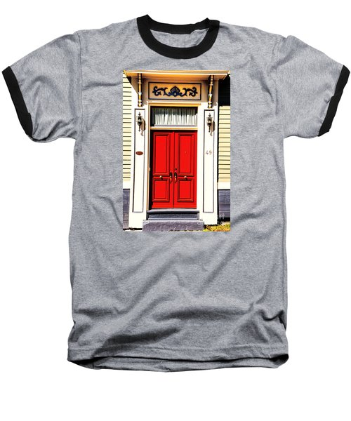 Baseball T-Shirt featuring the photograph Red Door by Rick Bragan