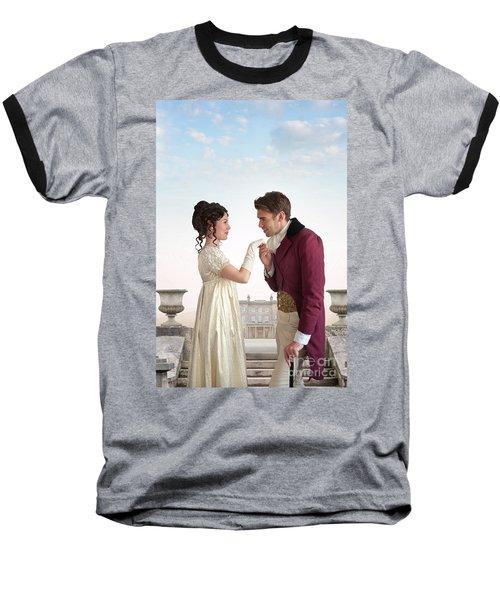 Regency Couple  Baseball T-Shirt by Lee Avison