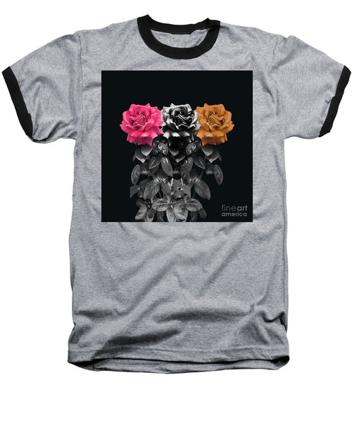 3 Roses Baseball T-Shirt
