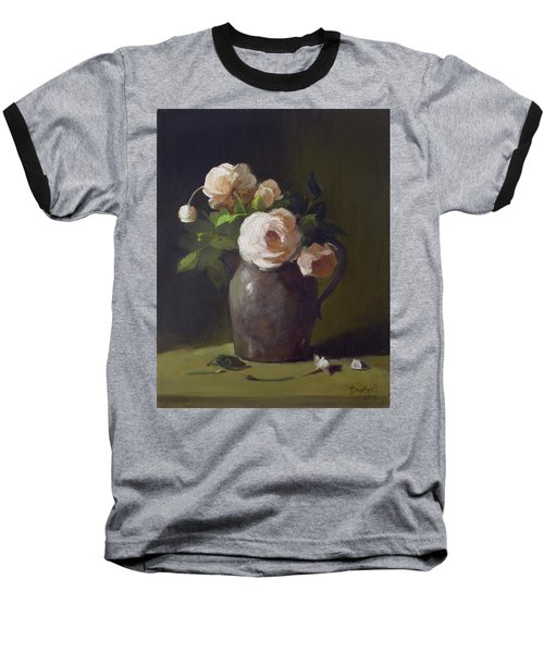 3 Roses In Silver Pitcher Baseball T-Shirt