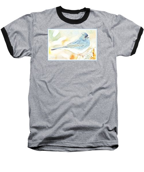 Slate-colored Junco, Snowbird, Male, Animal Portrait Baseball T-Shirt by A Gurmankin