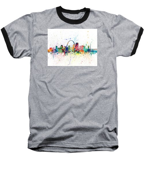 St Louis Missouri Skyline Baseball T-Shirt