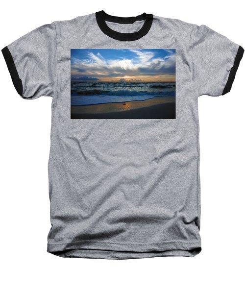Sunset At Delnor-wiggins Pass State Park Baseball T-Shirt