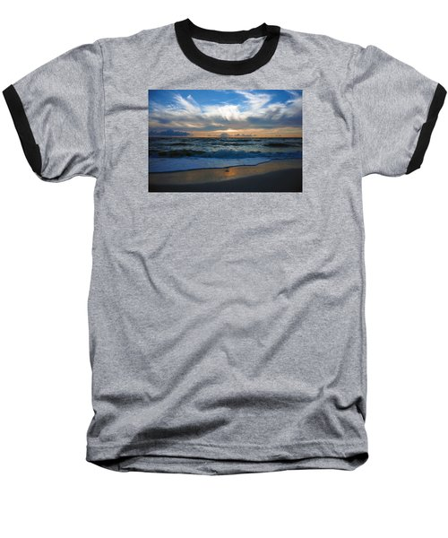 Sunset At Delnor-wiggins Pass State Park Baseball T-Shirt