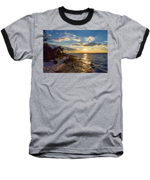 Sunset On The Cape Fear River Baseball T-Shirt
