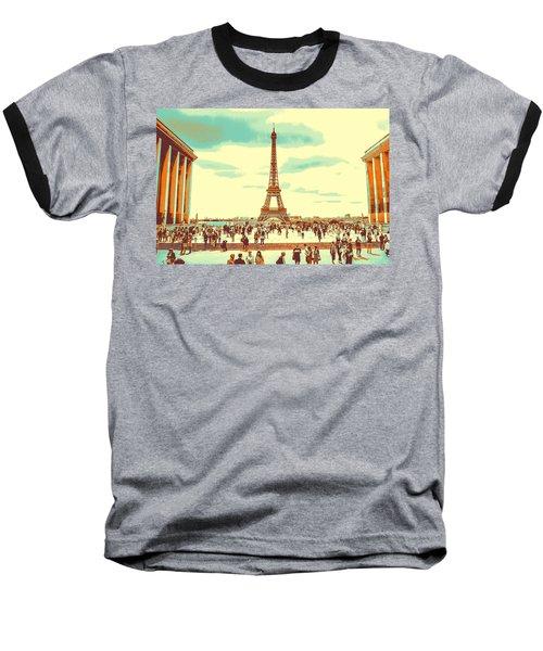 The Eiffel Tower Baseball T-Shirt