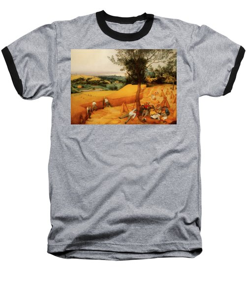 Baseball T-Shirt featuring the painting The Harvesters by Pieter Bruegel The Elder