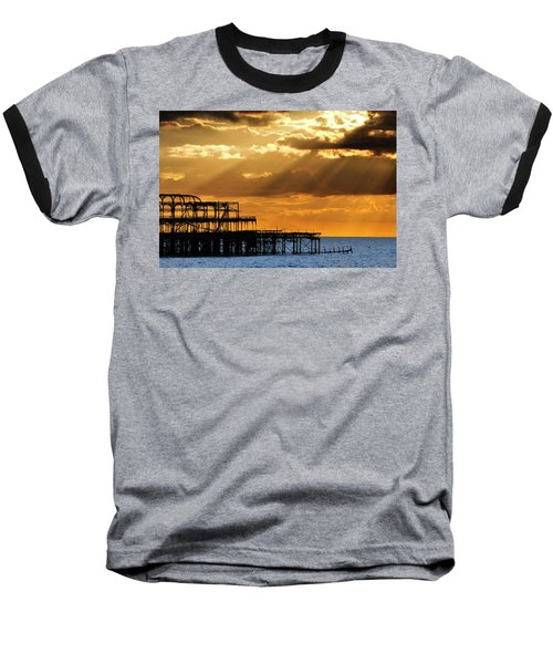 The West Pier In Brighton At Sunset Baseball T-Shirt
