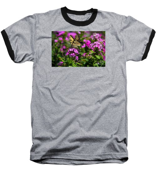 Baseball T-Shirt featuring the photograph Tiger Swallowtail by Yumi Johnson
