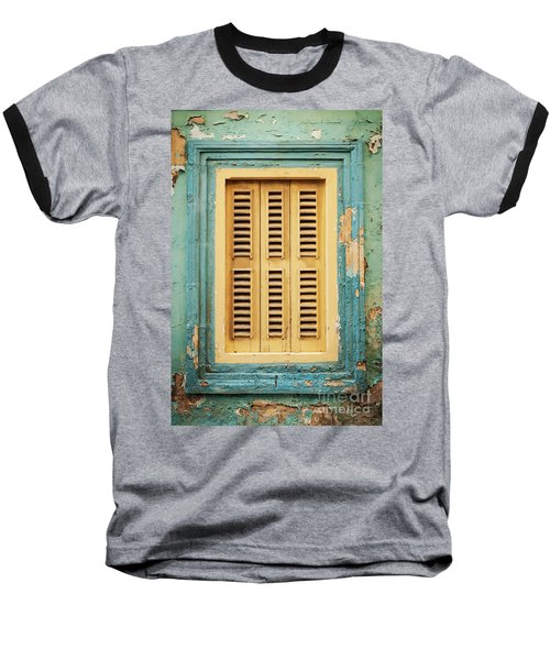 Traditional House Window Architecture Detail La Valletta Old Tow Baseball T-Shirt