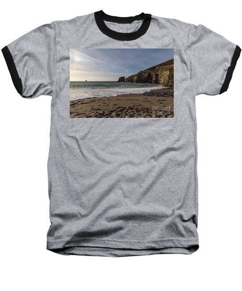 Baseball T-Shirt featuring the photograph Trevellas Cove Cornwall by Brian Roscorla
