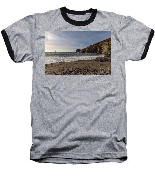 Trevellas Cove Cornwall Baseball T-Shirt