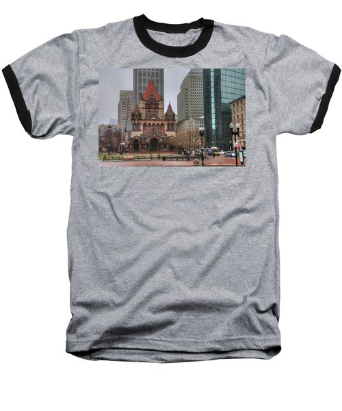 Baseball T-Shirt featuring the photograph Trinity Church - Copley Square - Boston by Joann Vitali