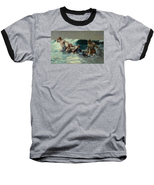 Baseball T-Shirt featuring the painting Undertow by Winslow Homer