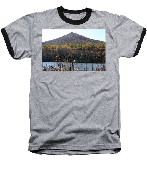 View Of Abbott Lake And Sharp Top In Autumn Baseball T-Shirt