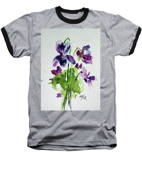 Baseball T-Shirt featuring the painting Violet by Kovacs Anna Brigitta