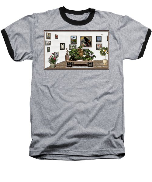 Virtual Exhibition -  Bonsai 16 Baseball T-Shirt by Pemaro