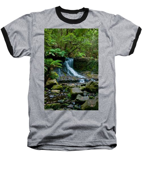 Waterfall In Deep Forest Baseball T-Shirt by Ulrich Schade
