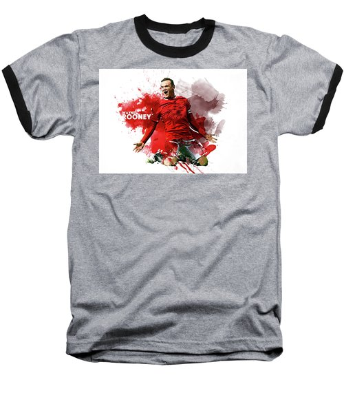 Wayne Rooney Baseball T-Shirt by Semih Yurdabak