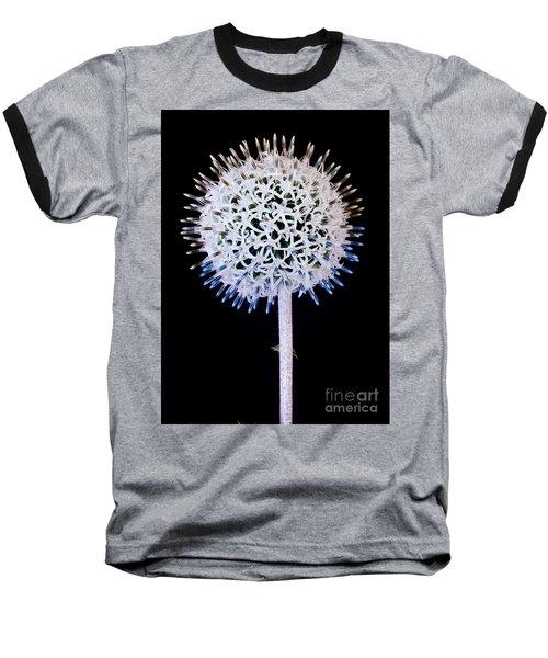 White Alium Onion Flower Baseball T-Shirt