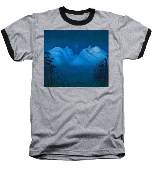 Winter Night In The Mountains Baseball T-Shirt