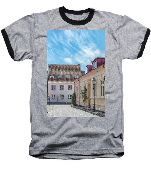 Baseball T-Shirt featuring the photograph Ystad Street Scene by Antony McAulay