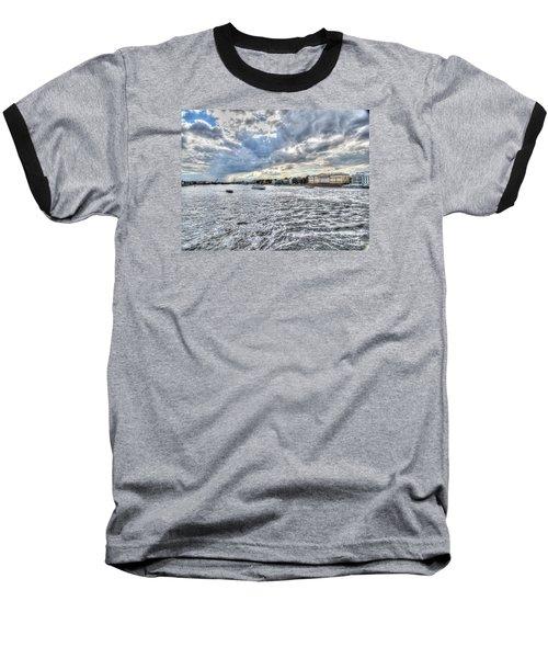 Baseball T-Shirt featuring the pyrography Yury Bashkin Peterburg Russia by Yury Bashkin