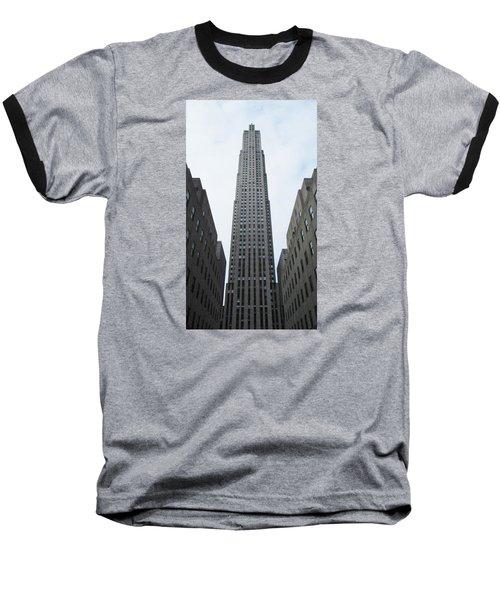 30 Rockefeller Center Baseball T-Shirt by Christopher Kirby