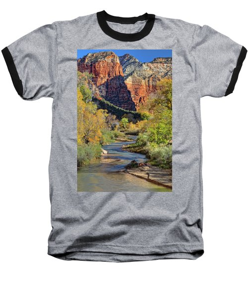 Zion National Park Utah Baseball T-Shirt