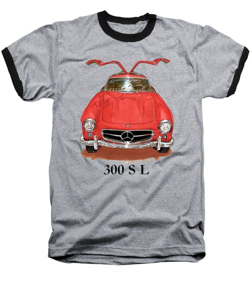 300 Sl Mercedes Benz 1955 Baseball T-Shirt by Jack Pumphrey