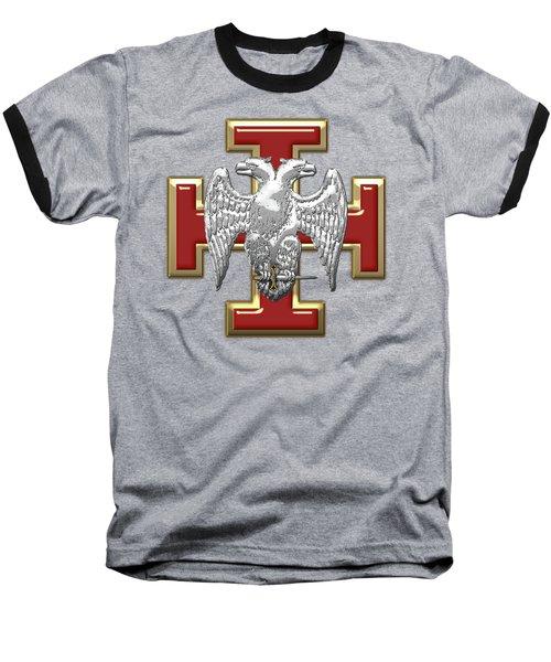 30th Degree Mason - Knight Kadosh Masonic Jewel  Baseball T-Shirt by Serge Averbukh