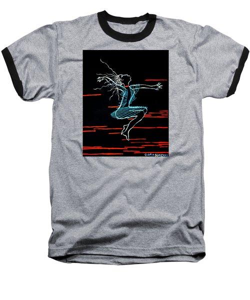 Dinka Dance - South Sudan Baseball T-Shirt by Gloria Ssali
