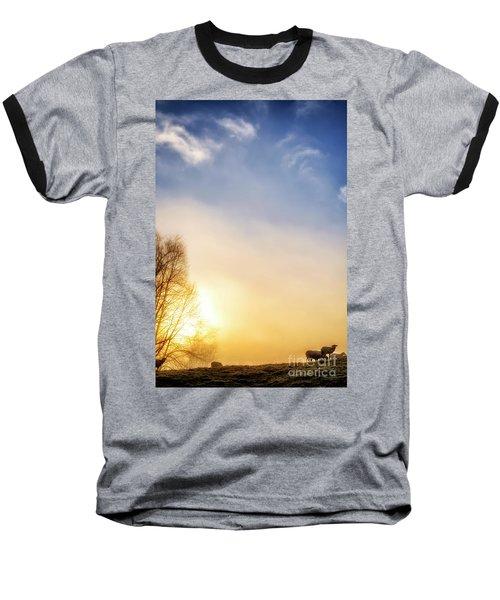 Baseball T-Shirt featuring the photograph Misty Mountain Sunrise by Thomas R Fletcher