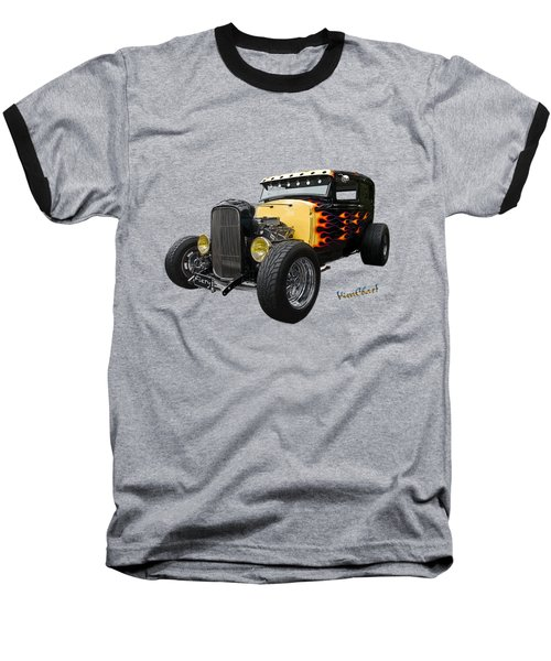 31 Model A Ford Fiery Watercolour Baseball T-Shirt