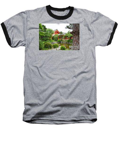 33 Sanjusangendo 1 Baseball T-Shirt by Eva Kaufman