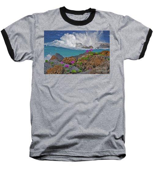 34- Beauty And Power Baseball T-Shirt by Joseph Keane